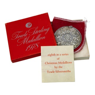 1978 Towle Sterling Ornament Eight Maids a Milking With Box For Sale