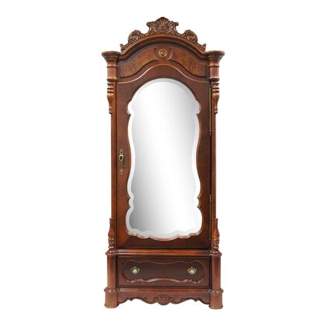 Pulaski Baker Street Armoire Mirror Front Cherry Dresser ...