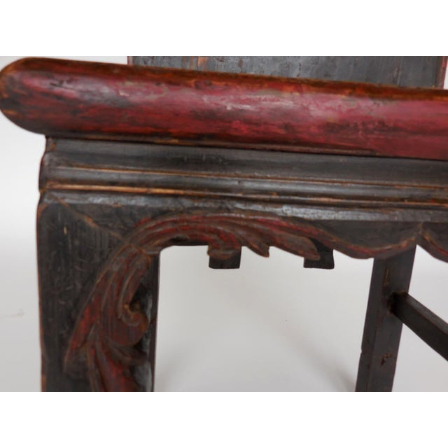 Red 19th Century Chinese Chair For Sale - Image 8 of 10