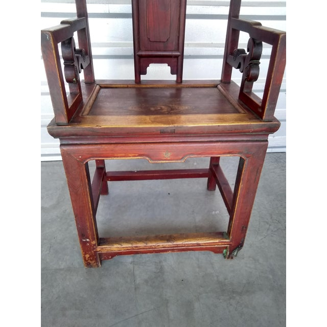 Late 19th Century Late 19th Century Antique Chinese Officials Chair For Sale - Image 5 of 13
