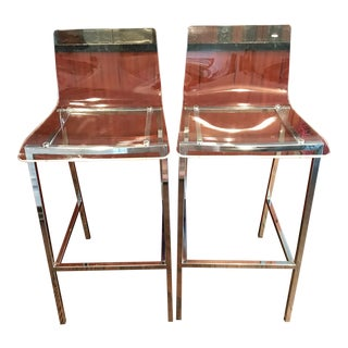 Modern Bar Stools by Mereladada Estudio - a Pair For Sale