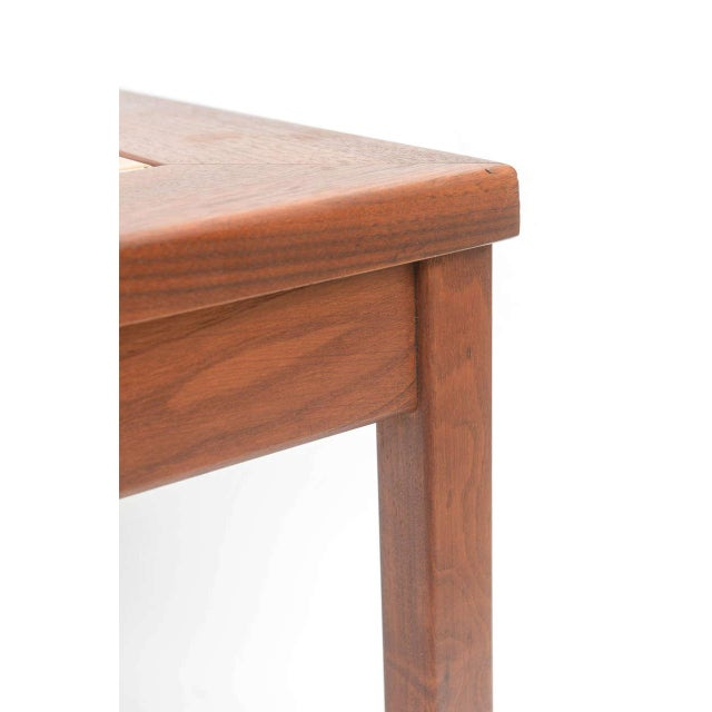 1950s Mid-Century Modern Walnut Table With Enamel on Copper Inset by Brown Saltman For Sale - Image 5 of 10