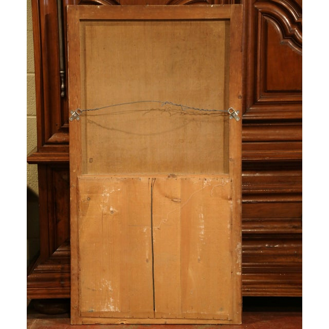 19th Century French Hand-Painted Trumeau Mirror in Giltwood Frame For Sale In Dallas - Image 6 of 7