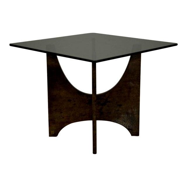 Aldo Tura Parabolic Panel Occasional Table For Sale