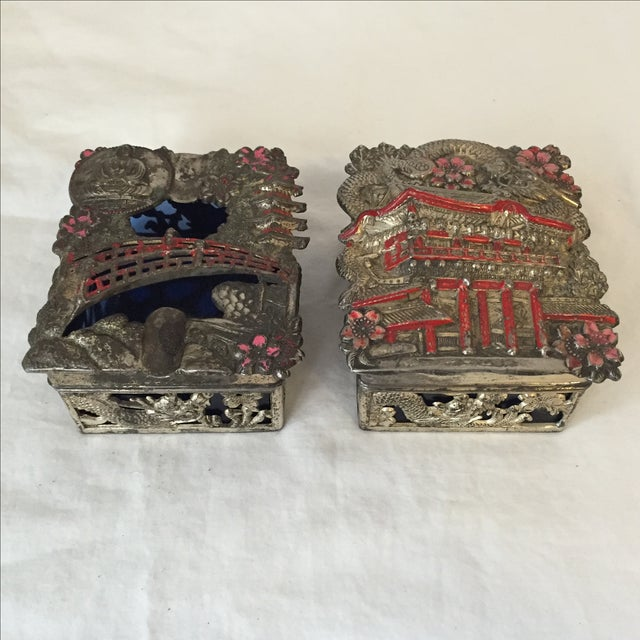 Vintage Japanese Jewelry Boxes - A Pair - Image 2 of 9