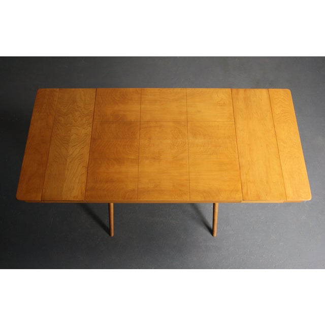 Walnut Dining Table X Base, Manner of Widdicomb For Sale In Orlando - Image 6 of 10