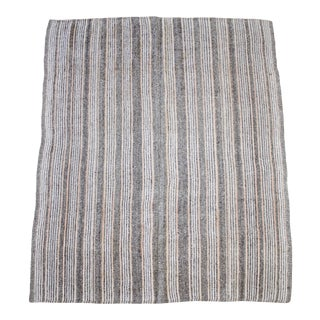 Vintage Turkish Flat-Weave Ramy Rug With Stripes For Sale