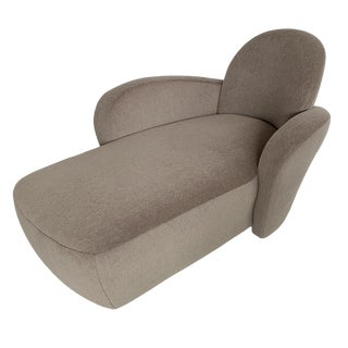 Vladimir Kagan Wrap Around Arm Chaise Lounge for Directional For Sale