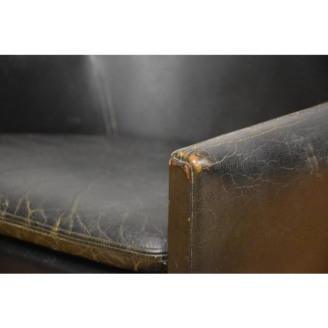 Danish Black Leather & Teak Lounge Chair For Sale - Image 9 of 10