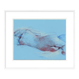 Figure 12 by David Orrin Smith in White Frame, Small Art Print For Sale