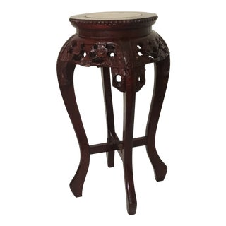 1980s Asian Rosewood Pedestal Table For Sale