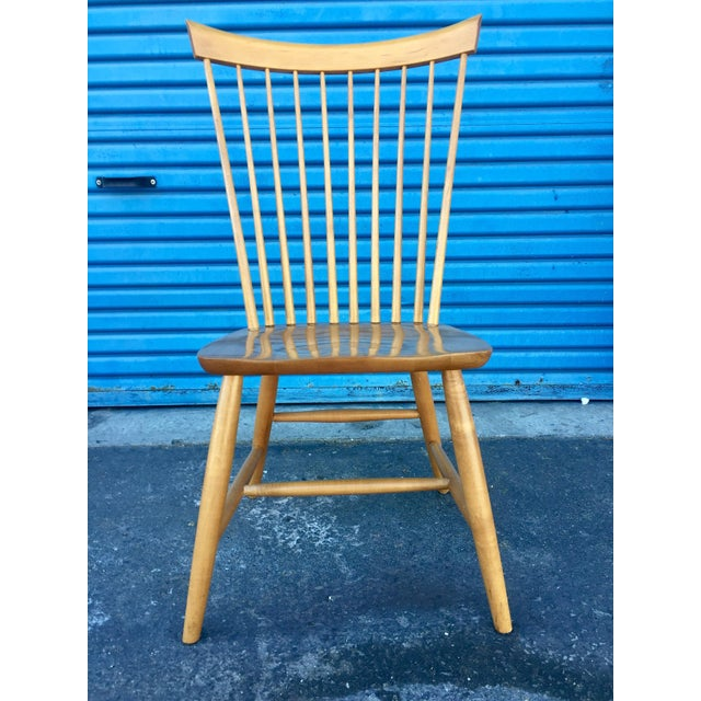 Gorgeous chair! Quality craftsmanship! American made & built with aged blonde birch wood, in an eye catching, clean &...