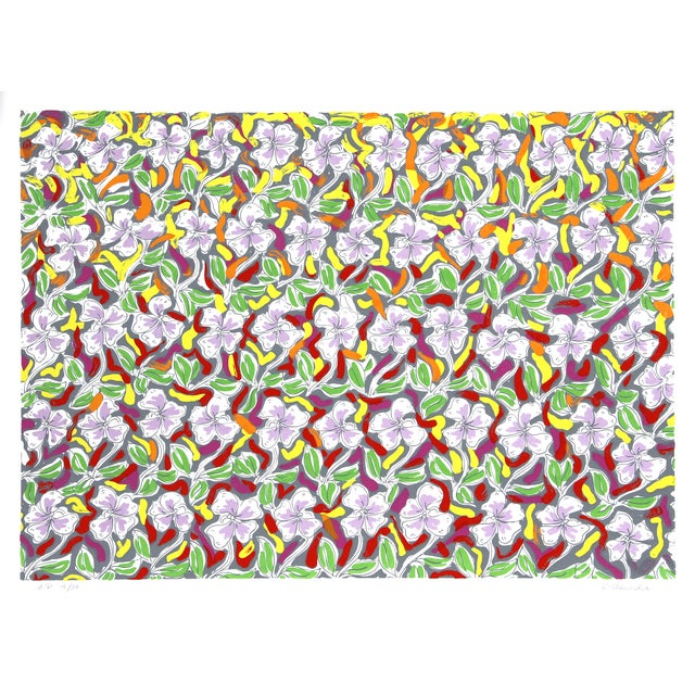 Pattern Field Serigraph by George Chemeche - Image 1 of 2
