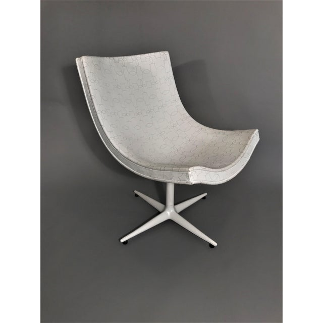 Mickey Swivel Chair designed by Christophe Pillet. Limited edition of 33 for Cappellini., 2010. White Leather embroidered...