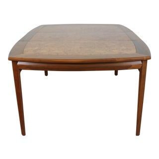 Monteverdi Young Walnut and Burlwood Dining Table For Sale