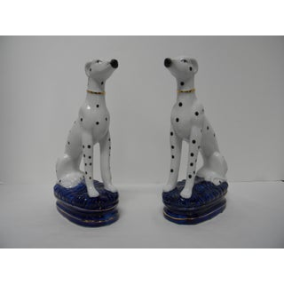 Staffordshire Style Dalmatian Bookends - a Pair Preview