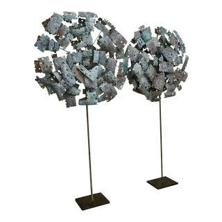 Pair of Brutalist Torchcut Sculptures
