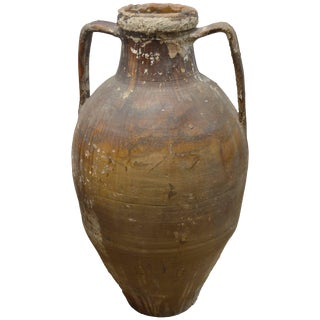 Early 20th Century Italian Terra Cotta Oil Jar For Sale