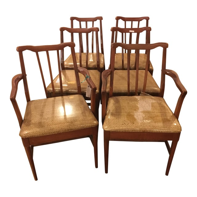 Mid-Century Modern Dining Chairs - Set of 6 - Image 1 of 9