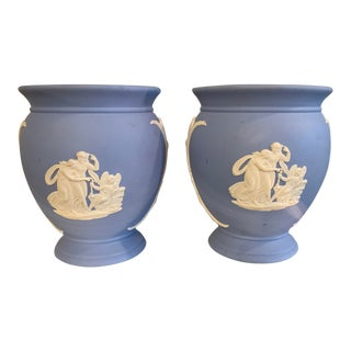 1960's Vintage Wedgwood Posy Pot Vases - a Pair For Sale