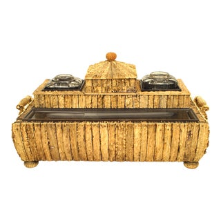 Anglo Indian Sandalwood and Horn Writing Box For Sale