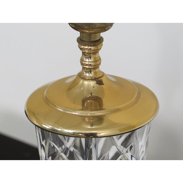 Traditional 1990s Traditional Waterford Crystal Table Lamp With Shade For Sale - Image 3 of 8