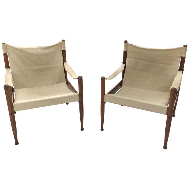 Safari Sling Lounge Chairs by Erik Wørts - A Pair - Image 1 of 6