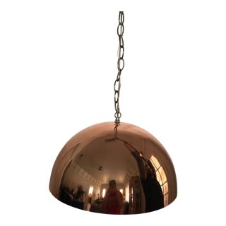 Mod 1960s Copper Hanging Lamp For Sale