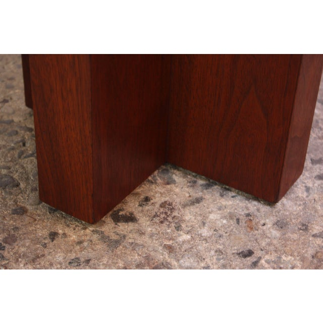 Pair of Milo Baughman 'Cruciform' End Tables For Sale - Image 12 of 13