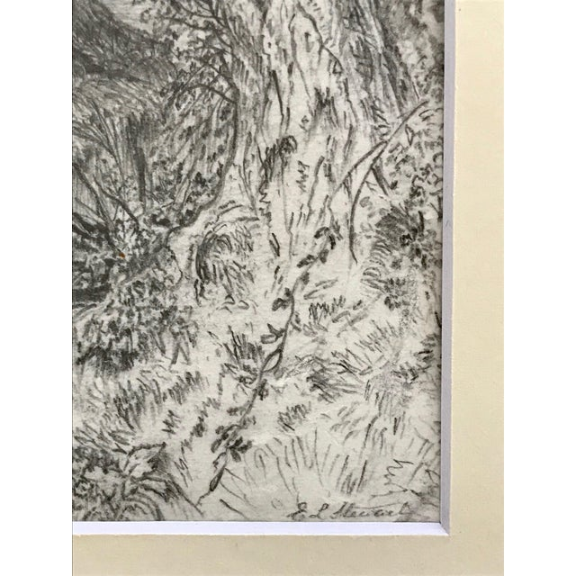 Antique 19th Century English Graphite Landscape Drawing For Sale In New York - Image 6 of 7
