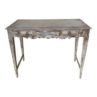 French Custom Made 2 Drawer Writing Desk For Sale