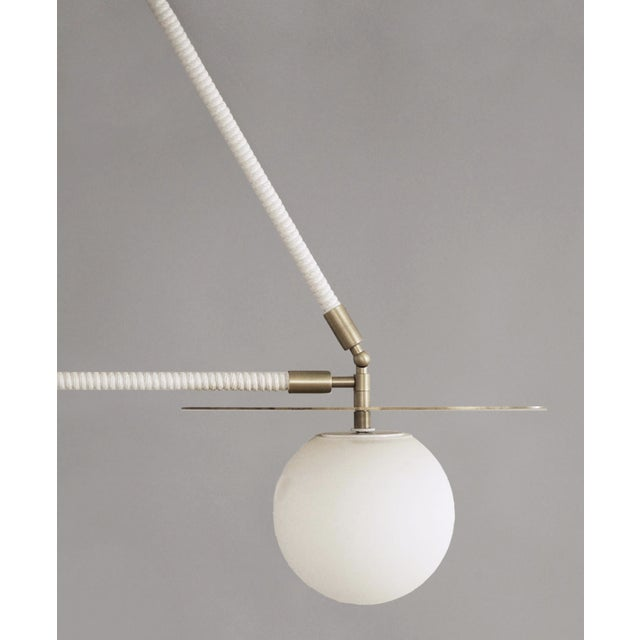 Contemporary Featured in The 2020 San Francisco Decorator Showcase — Contemporary Double Pendant Light For Sale - Image 3 of 4