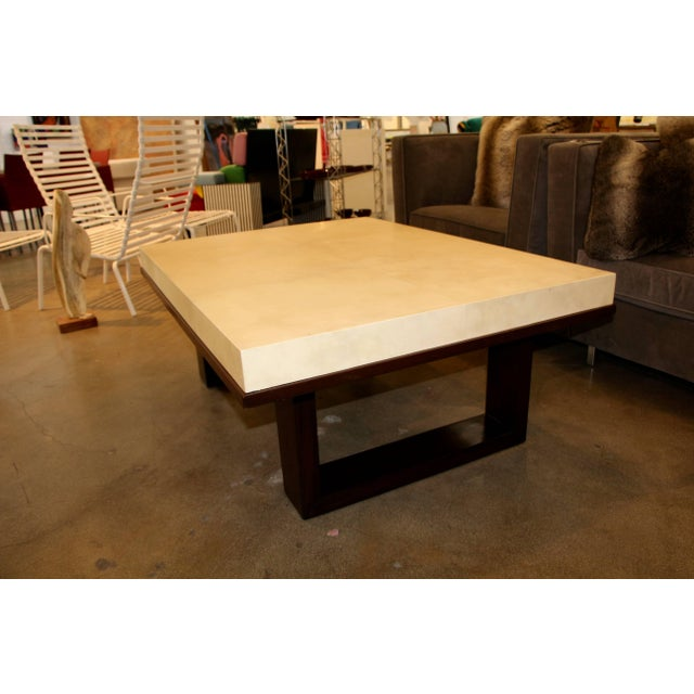 2010s Beautiful Parchment Top Table by Christopher Kennedy For Sale - Image 5 of 10