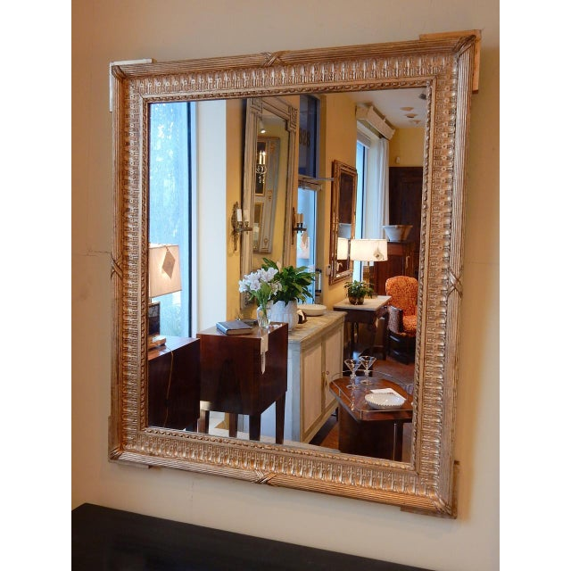 Elegant 19th century French gold gilt mirror. Very nice relief in very good condition.