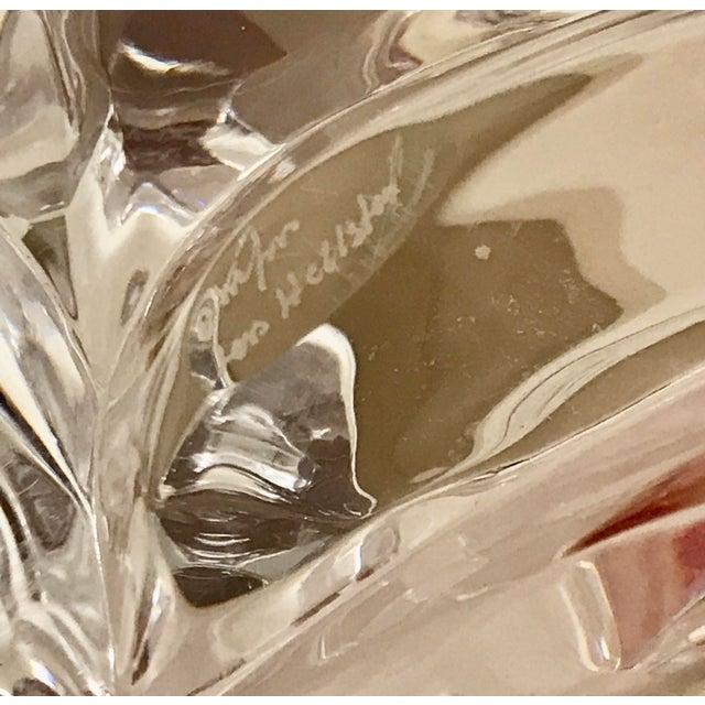 Glass 1970s Orrefors Swedish Signed Crystal Isabella Bowl For Sale - Image 7 of 12