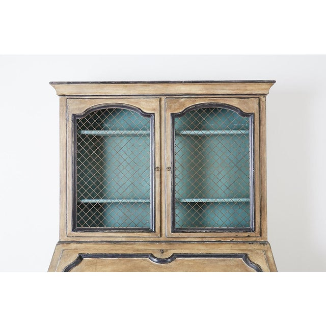 Swedish Gustavian Style Two-Part Secretaire Bookcase For Sale - Image 4 of 13