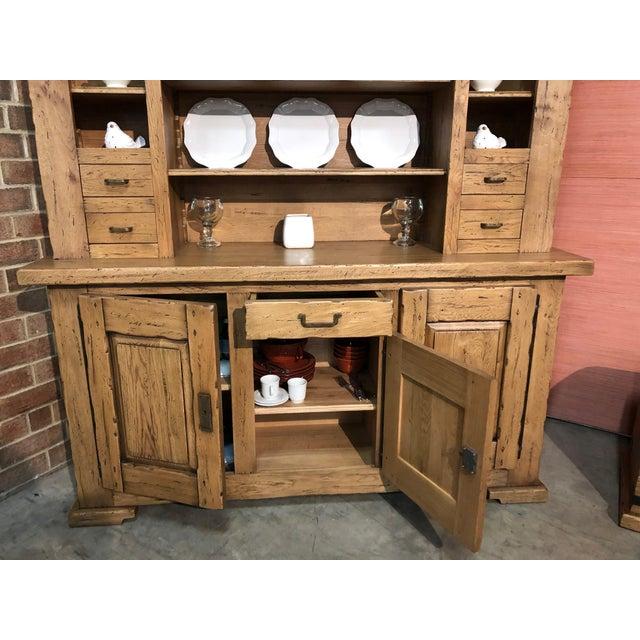 Italian Solid Oak Buffet For Sale - Image 4 of 13