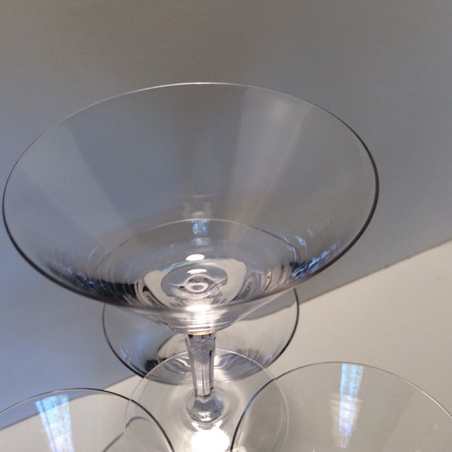 Set of 5 Cocktail or Champagne Glasses by Fostoria For Sale - Image 10 of 13