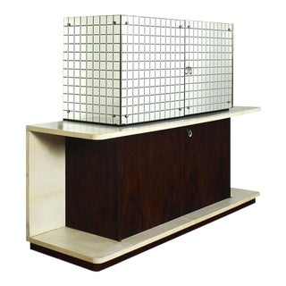 Italian 1930s Art Deco Cubist Two-Block Dry Bar
