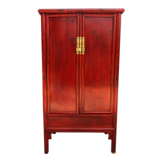 19th Century Chinese Ming Style Red Cabinet