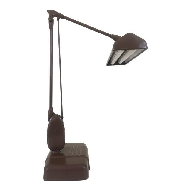 20th Century Industrial Dazor Floating Flourescent Desk Lamp For Sale