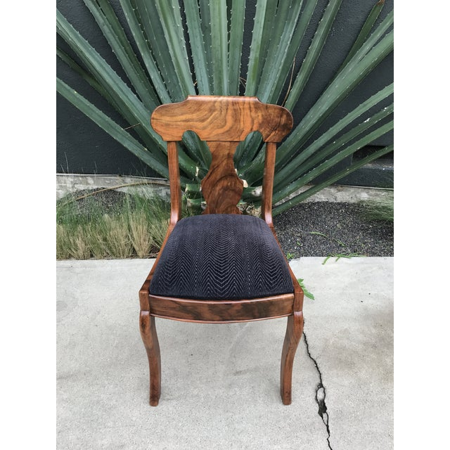 Handmade Burlwood Dining Chairs - Set of 5 - Image 3 of 6