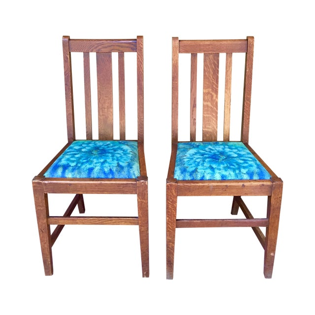 Mission Dining Chairs - A Pair - Image 1 of 10