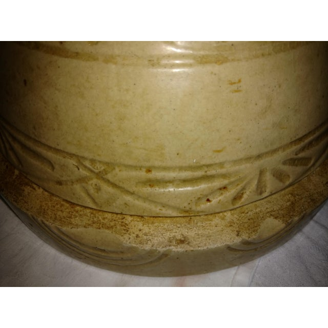 Antique 19th Century Primitive Yellow Stoneware Bowl For Sale In Sacramento - Image 6 of 8