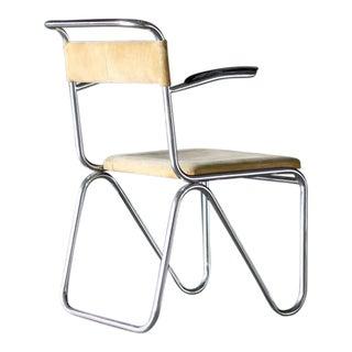 "1930s ""Diagonaalstoel,"" Armchair Designed by Willem H. Gispen"