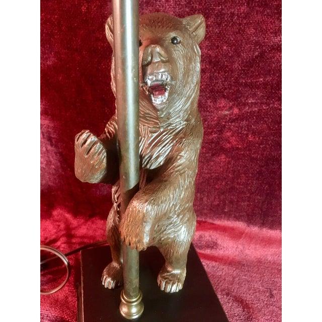 Black Forest Vintage Black Forest Bear Table Lamp For Sale - Image 3 of 13