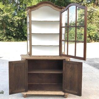Antique Dutch Stripped Oak Bookcase Preview
