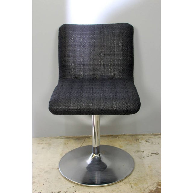 1970's six Italian swivel bar stools. New upholstery, chrome base in original vintage condition. Bar stools can be sold...