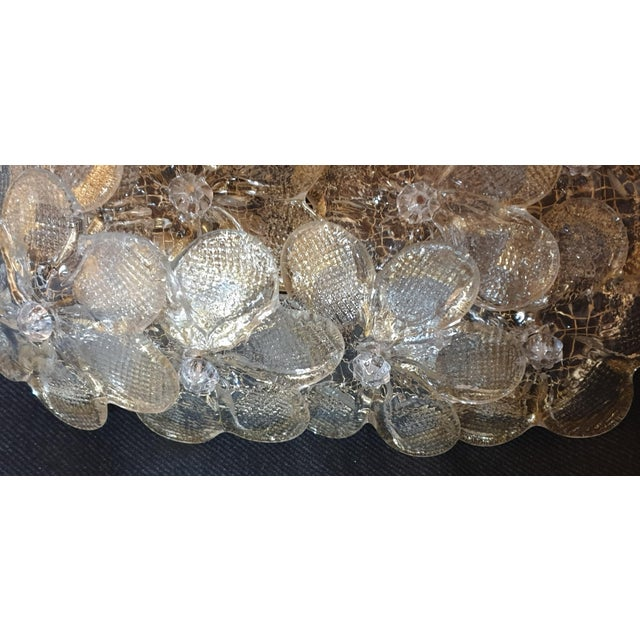 Gold Mid-Century Modern Murano Glass Gold Flower Sconces by Barovier - a Pair For Sale - Image 8 of 11