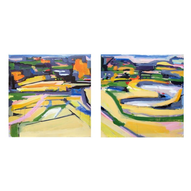 This is the first of a diptych landscape #5 and #6. Can be bought together or separate. This series is a progression into...